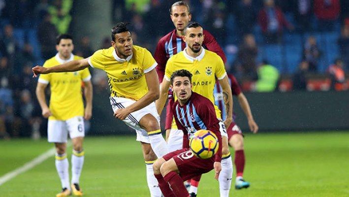 Fenerbahçe Ve Trabzonspor Karşılaşması 1-1 Bitti