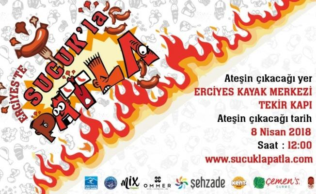 Erciyes'te Sucuk ekmek yeme yarışması başlıyor.