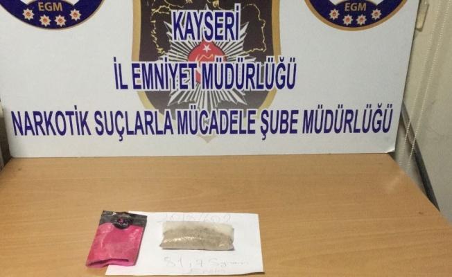 Kayseri'de 81 gram eroin yakalandı!