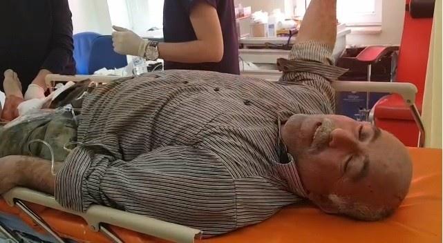 Yaban domuzunun saldırdığı bir kişi hastaneye kaldırıldı