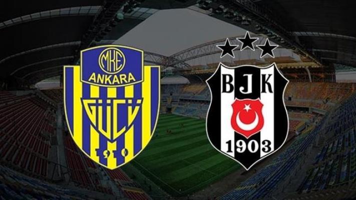 Kayseri'de Yapılan Beşiktaş-Ankaragücü Maçında, Ankaragücü Geride Kaldı