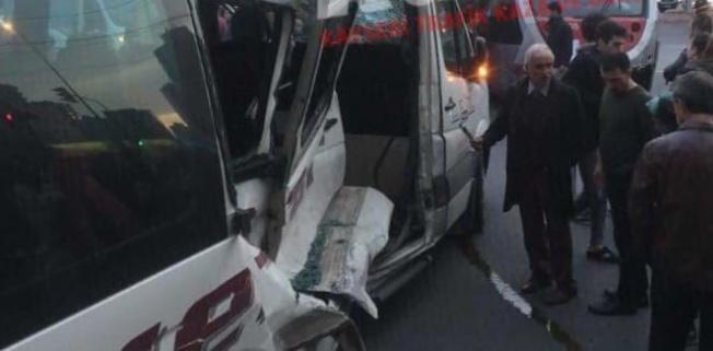 Kayseri'de yürek hoplatan tramvay kazası!