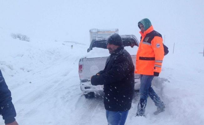 Yahyalı ilçesinde dağda mahsur kalan 2 kişi kurtarıldı!