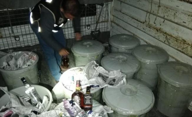 Kayseri'de 463 şişe kaçak içki ele geçirildi !