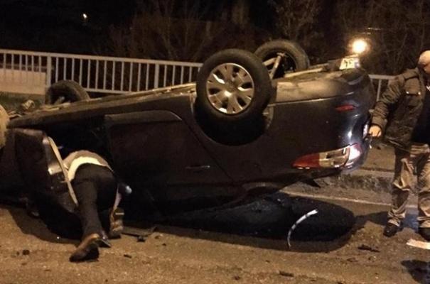 Kayseri'nin Pınarbaşı İlçesinde trafik kazası!