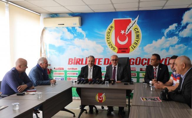 Başkan Yalçın'dan Kayseri Basınına Destek