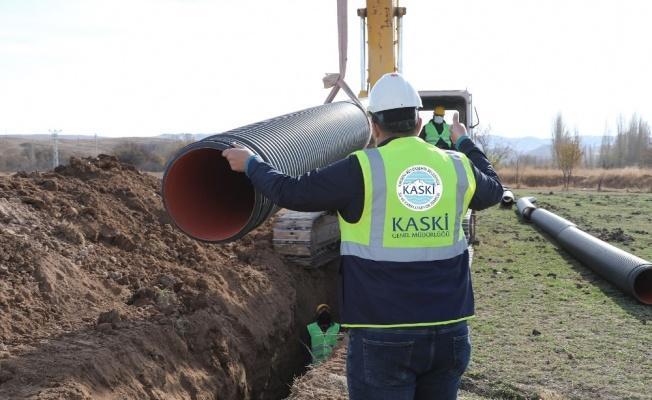 KASKİ'den Akkışla'ya 4 bin 500 metre altyapı çalışması