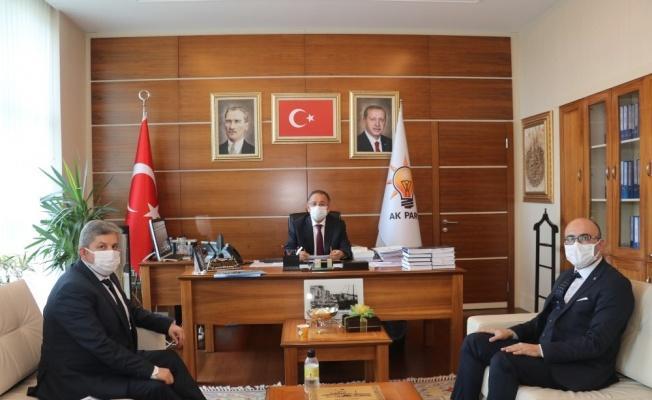 Bünyan heyetinden Mehmet Özhaseki'ye ziyaret