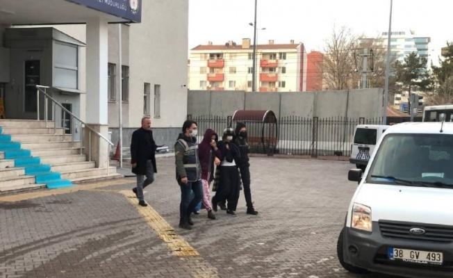 Kesinleşmiş hapis cezası bulunan 2 kadın hırsız tutuklandı