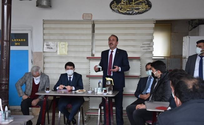 Kaymakam Cebeci ve Başkan Şahin Tomarza Sanayi Esnafı ile bir araya geldi