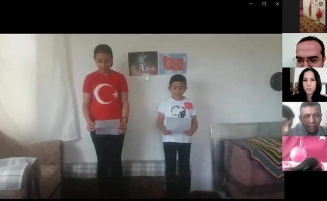 Kaymakam Bayram çocukların çevrimiçi bayram etkinliğine katıldı