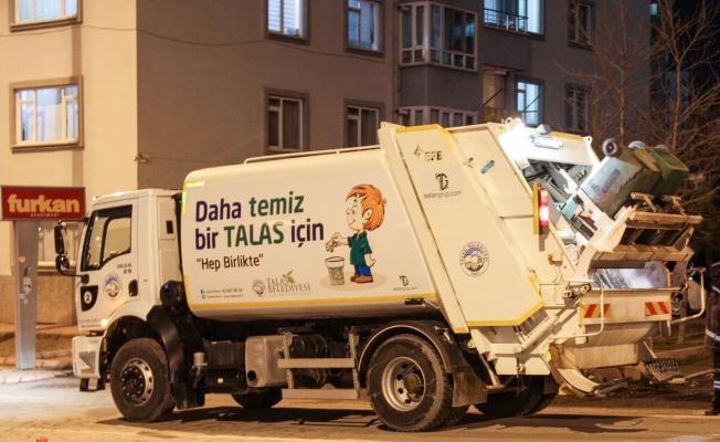 Talas'ta çöp toplama saatleri değişti
