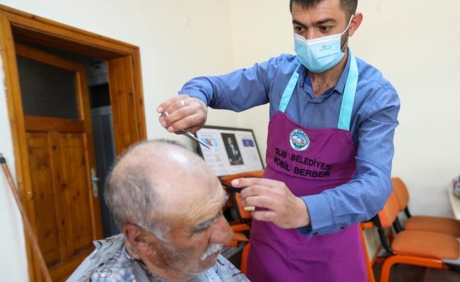 Talas'ta 'mobil berber ve kuaför hizmeti' başladı