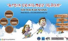 Erciyes'te 'Eşler Arası Kızak Yarışması' Başlıyor!