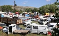 Kayseri'de Hurda araçlar Büyükşehir'e teslim!