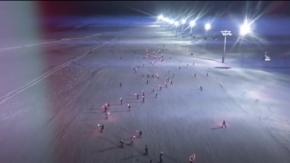 Kayakçılar Cumhurbaşkanı Erdoğan'ın doğum gününü meşaleli gösteri ile kutladı